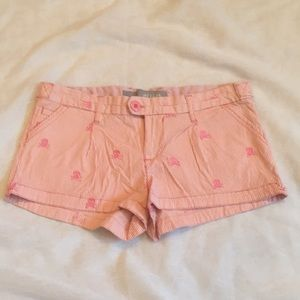 Delia's embroidered pink skull shorts, 5/6